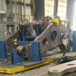 K&M Machine Fabricating - Large Mining Wheel Loader Lift Arm in Fabrication Tack Fixture