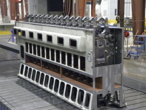 K&M Machine Fabricating - Machined Engine Block for the Power Generation Industry