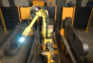 K&M Machine Fabricating - Robotic Welding of Gear Box for Mining Industry Vehicle