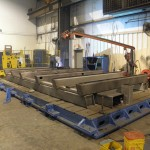 K&M Machine Fabricating - Tacking a Base for CNC Router for Aerospace Industry
