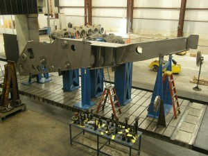 K&M Machine Fabricating – Machining a Large Fabrication for a Mining Truck Frame
