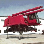 K&M Machine Fabricating - Cab for construction crane. Fabricated, machined, assembled and painted at K&M.