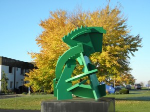 """Jendiva"" by Michael Dunbar, Sculpture Fabrication on K&M Machine-Fabricating Inc.'s Campus"