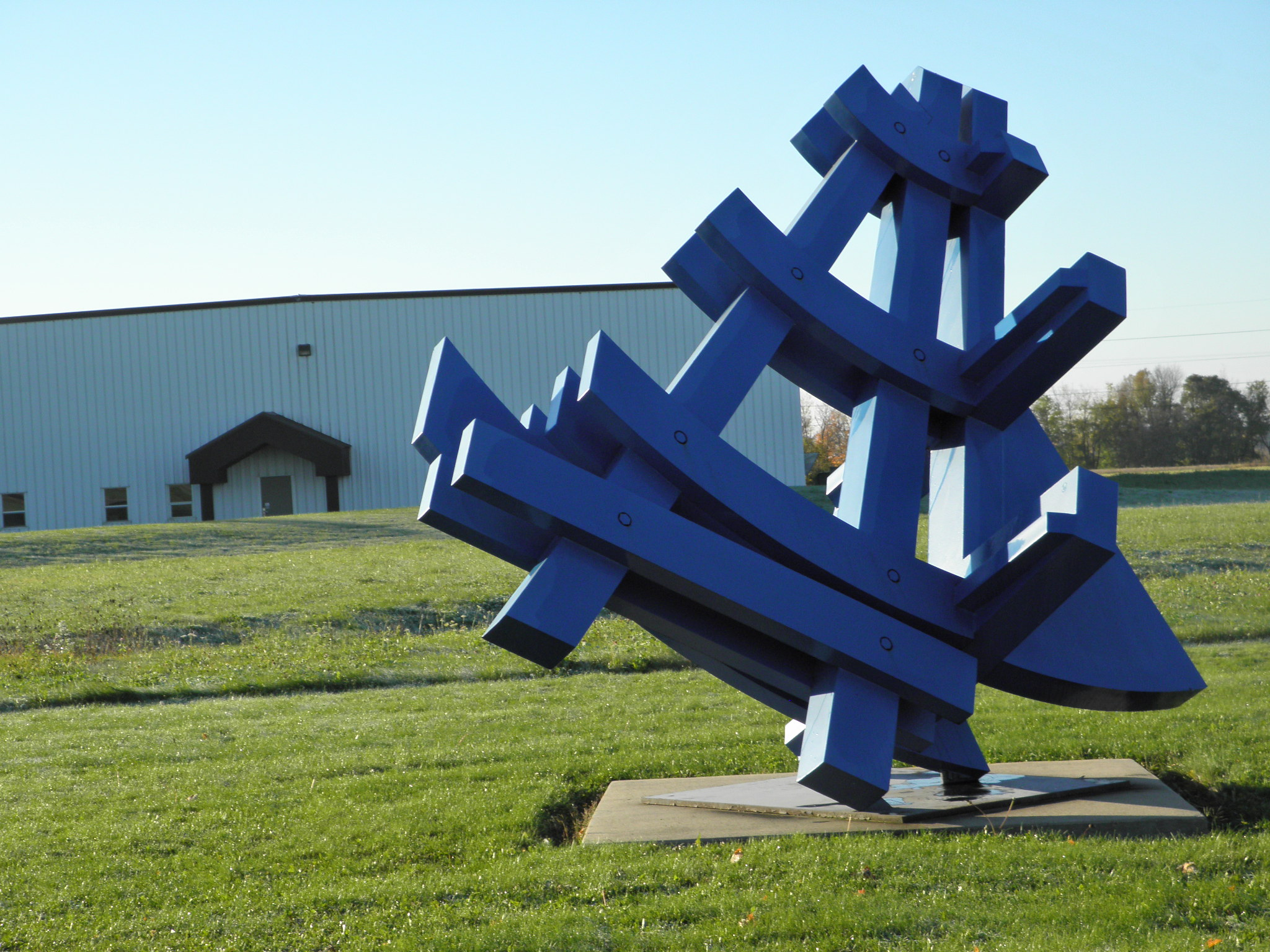 """""""Great Lakes Transfer"""" by Michael Dunbar, Sculpture Fabrication on K&M Machine-Fabricating Inc.'s Campus"""