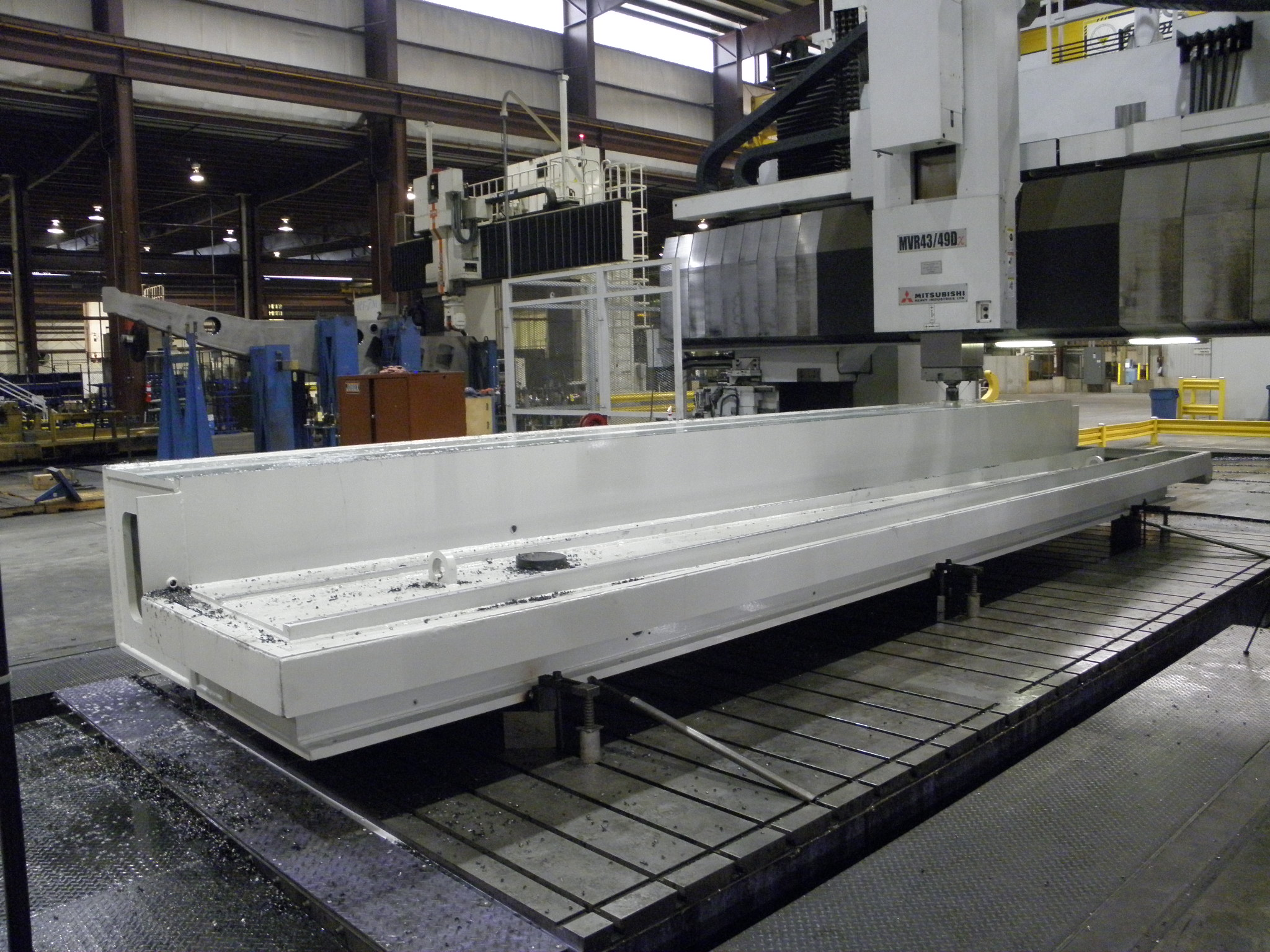 Large Fabricated Grinder Base after Machining