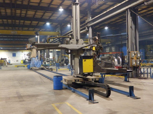 Large Fabrication Subarc Machine With Large Fabrication Location