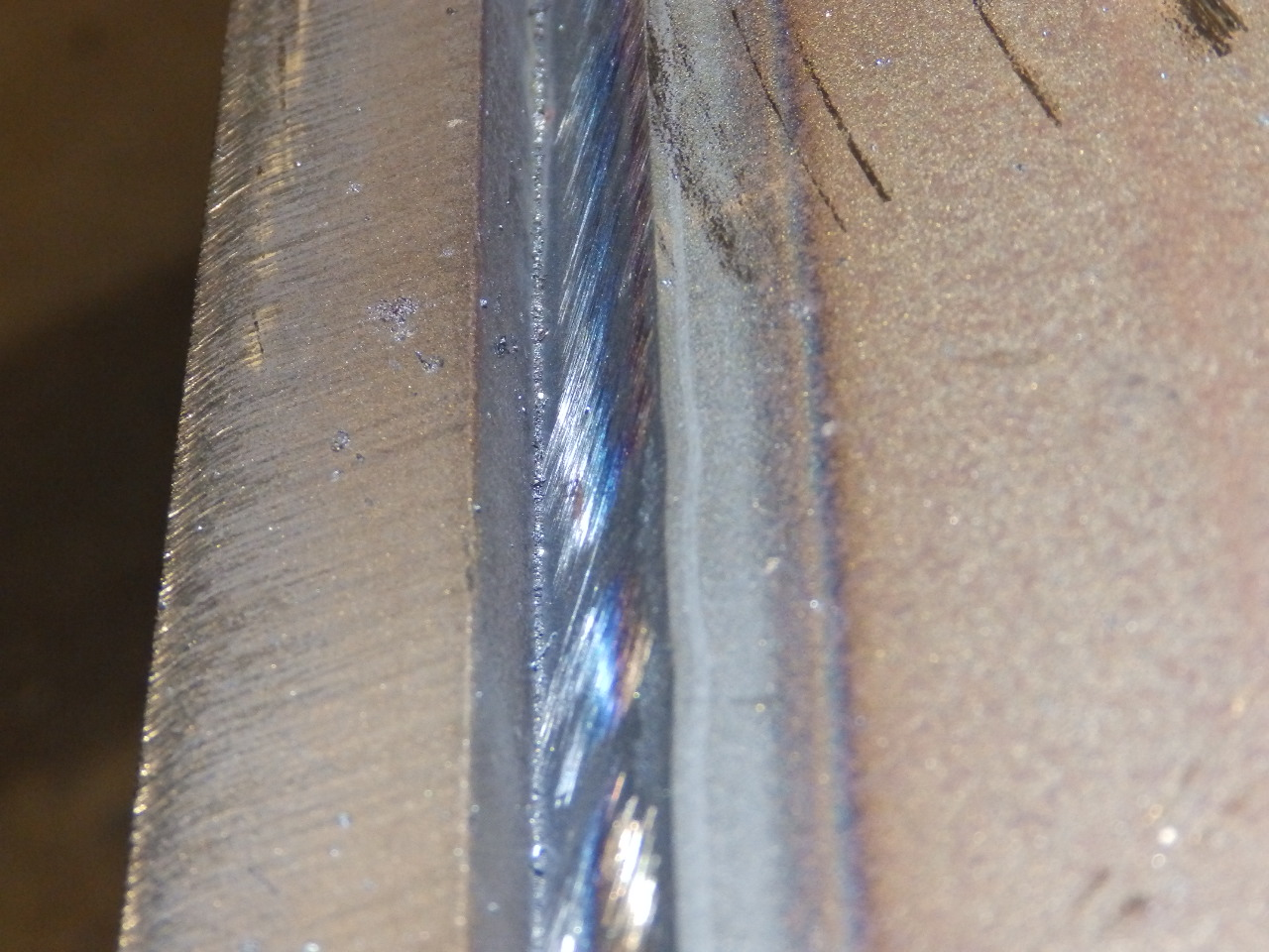 Large Fabrication Weld Joint Prior to Plasma Gouging