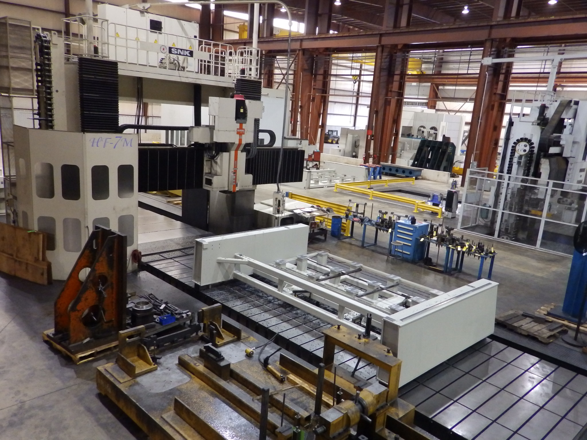 Large Machining SNK HF-7VM Vertical Gantry Mill Profile View