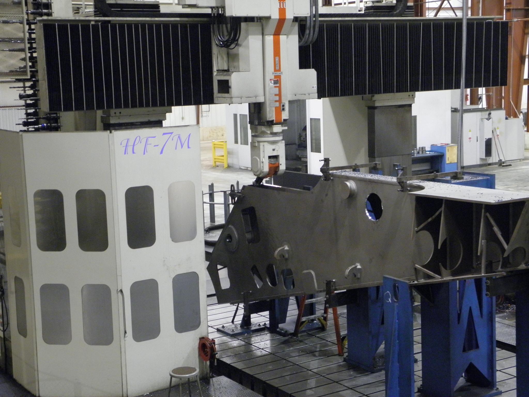 Large Machining SNK HF-7VM Vertical Gantry Mill Universal Head