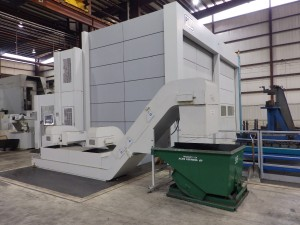 Large Machining 126 - Tool Magazine Load Station and Chip Conveyors