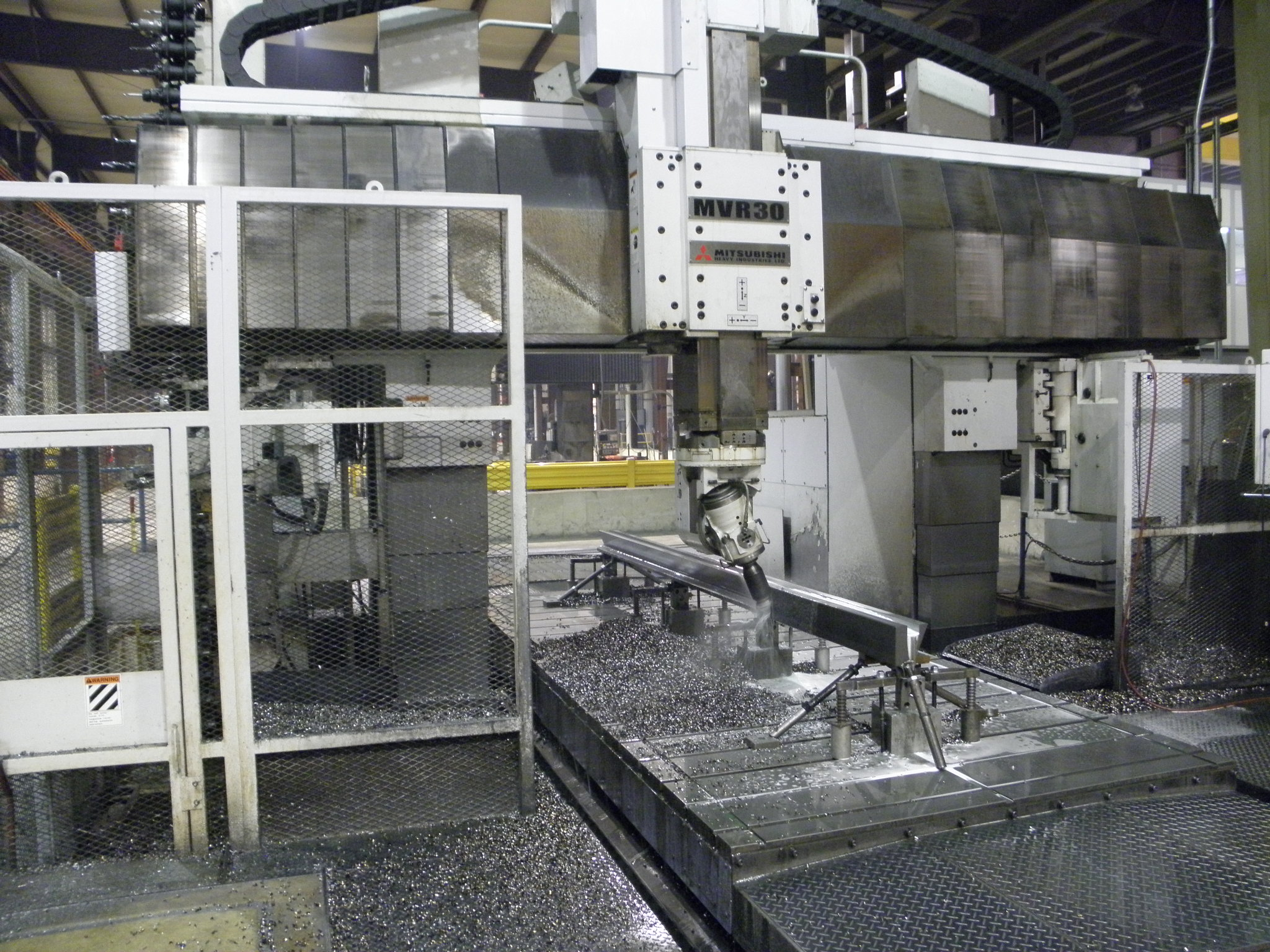 Machine # 114  - K&M's Smallest Large Vertical Gantry Mill - Picture #3