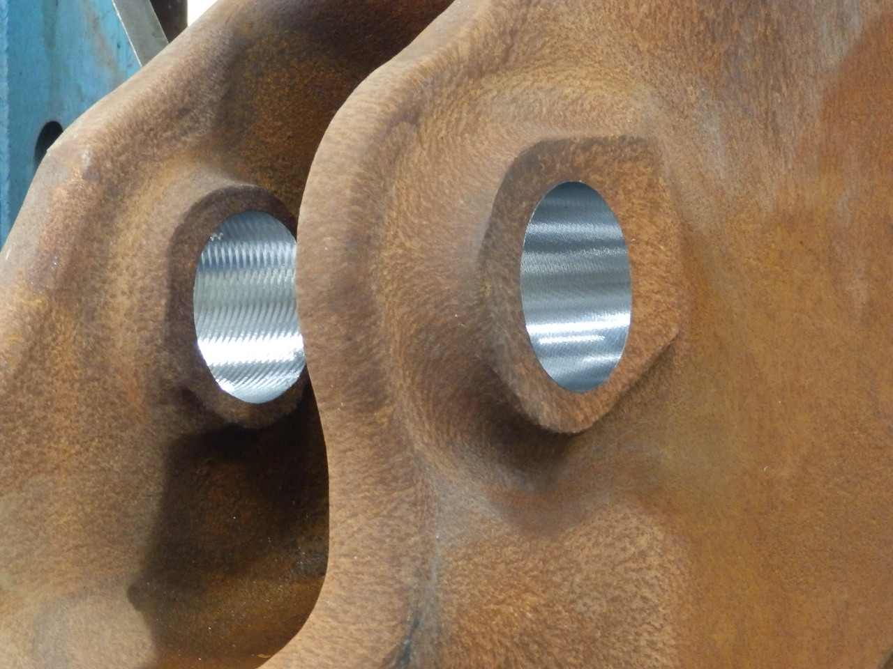 High Feed Milling Large Steel Castings - Bores After Machining