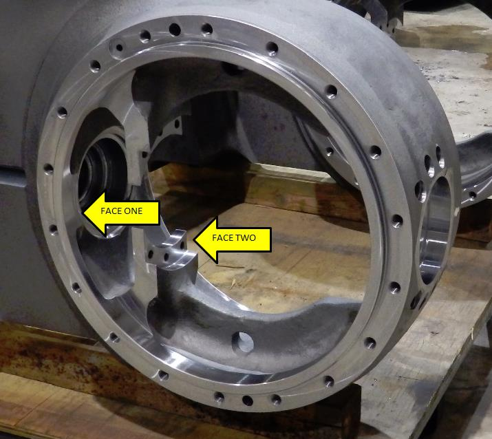 Large CNC Machining Of Steel Casting - Custom Head for Tight Clearance Milling, Two Faces After Milling