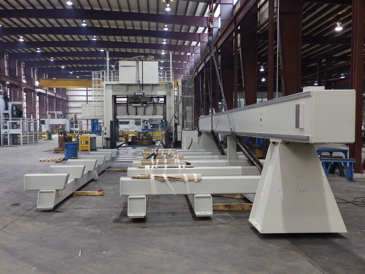 Cast vs. Fabricated Machine Tool Structure Design Impact on Supply Chain Design, Picture 2 - Fabricated Machine Structure